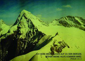 Eiger mit Psalm 121;1 -- Walter Danzer - go4jesus
