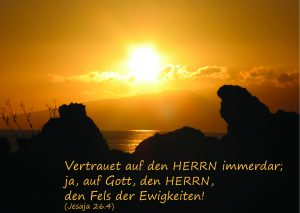 Ewiger Fels - Jesaja 26,4 -Sonnenuntergang-Christine Danzer - go4jesus