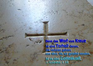 Kreuz - 1. Kor. 1,18 - Walter Hagel- go4jesus