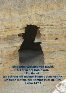 Qumran Beduinenhöhle - Psalm 142 - Walter Hagel -go4jesus