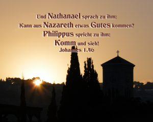 Sonnenaufgang Nazareth- Walter Hagel -go4jesus