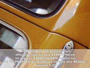 Autoschloß - Sprüche 1,20 - Christine Danzer - go4jesus