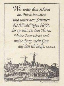 Gutenbergdruck des Psalm 91,
