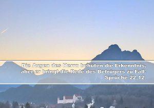 Füssen- Hohes Schloss- Bibelzitat Sprüche 22,12 - Christine Danzer - go 4 jesus