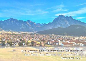 Füssen - Bibelzitat Sprüche 15,7 - Christine Danzer - go 4 jesus