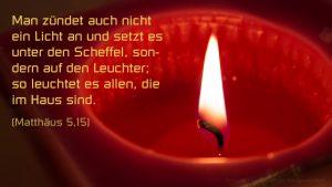 Kerze- Mt 5,15 -- Bibel - Fabian Will - go 4 jesus