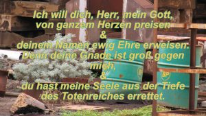 Rost auf einer Werft - Psalm 86, 12-13 Christine Danzer - go 4 jesus - Bild mit Bibelzitat