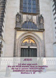 Wittenberg- Schlosskirche -Thesentür - Christine Danzer - go 4 jesus - Matthäus 5,28 -Bibel