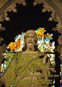 Wittenberg - Jesus Statue - Schlosskirche - Christine Danzer - go 4 jesus - Matthäus 5, 14-16 - bibel