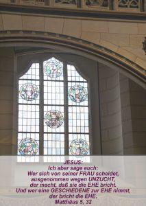 Wittenberg- Schlosskirche -Reformatorenbilder- Christine Danzer - go 4 jesus -Matthäus 5, 32 -Bibel