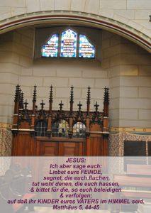 Wittenberg 13- Schlosskirche - Matthäus 5, 44-45 - Bibel - Christine Danzer - go 4 jesus