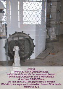 Wittenberg 17- Schlosskirchen - Renovierungen - Matthäus 6, 2 - Bibel - Christine Danzer - go 4 jesus