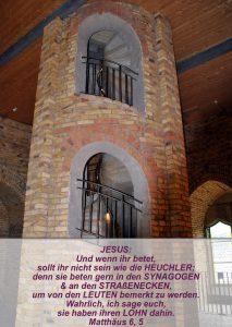 Wittenberg 19 - Schlosskirche - Turm - Matthäus 6,5 - Bibel - Christine Danzer - go 4 jesus