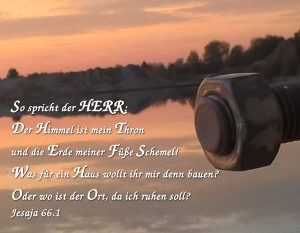 Sonnenuntergang mit Jesaja 66,1 - Christine Danzer - bibel_zitat - go 4 jesus