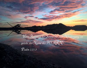 Niedergang Sonne- ps 113, 3 - Christine Danzer - go 4 jesus