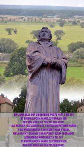 Lutherstatue vor der Elbe - Lutherhaus - Wittenberg - go 4 jesus - Jesus lehrte - Bibel - go 4 Jesus - Jesus lehrte - Bibel - Christine Danzer