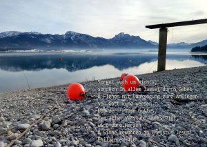 Forggensee - Bibelzitat -Jesus- Foto: Christine Danzer - go 4 Jesus