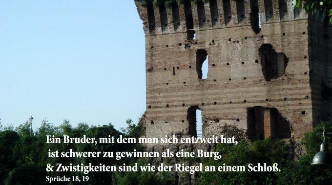 Bibelzitat, Burg, Foto: Walter Danzer, go 4 Jesus, Bibel