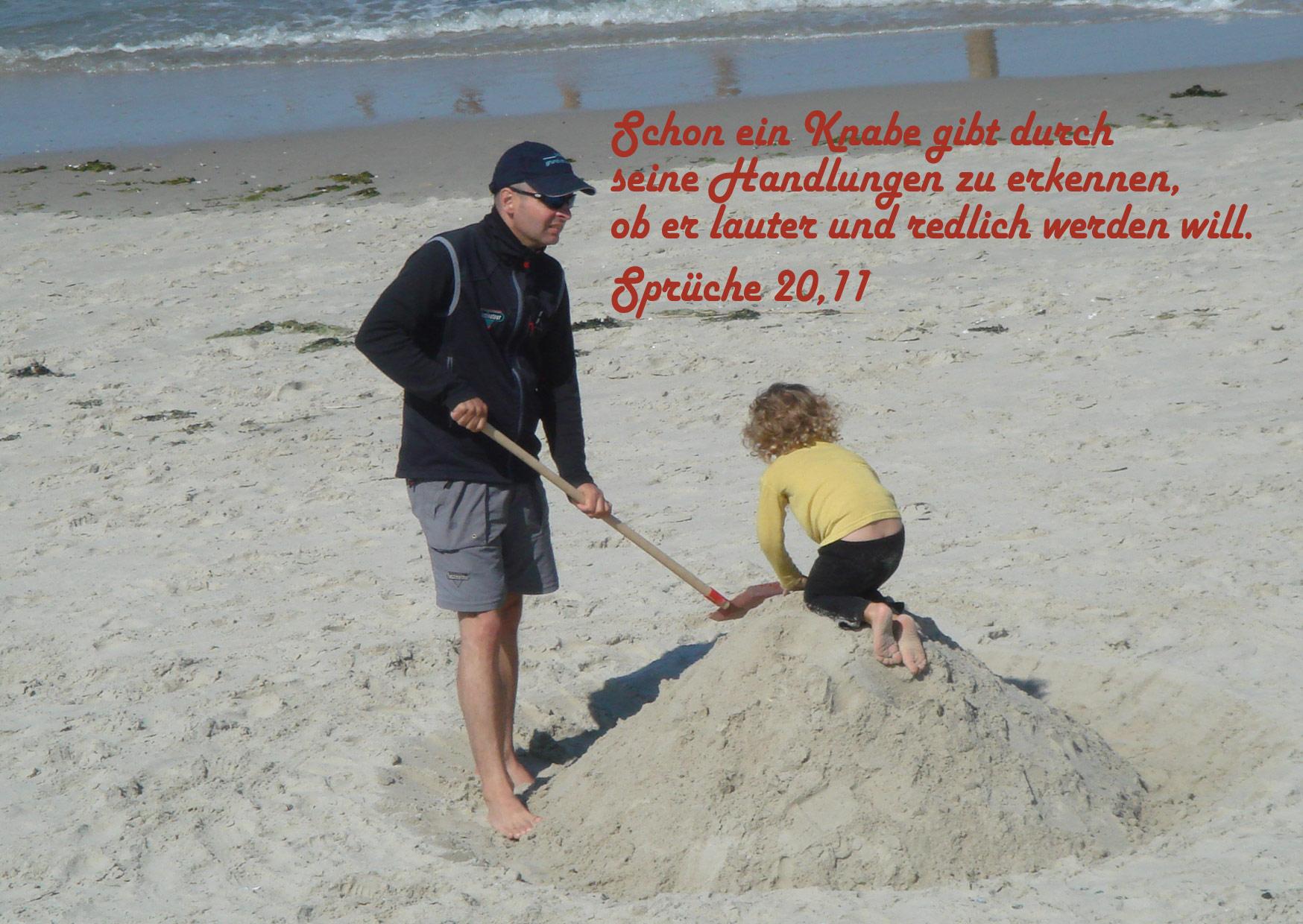 Bibelzitat, Sprüche 20,11, Foto: Danzer, Walter, go 4 Jesus