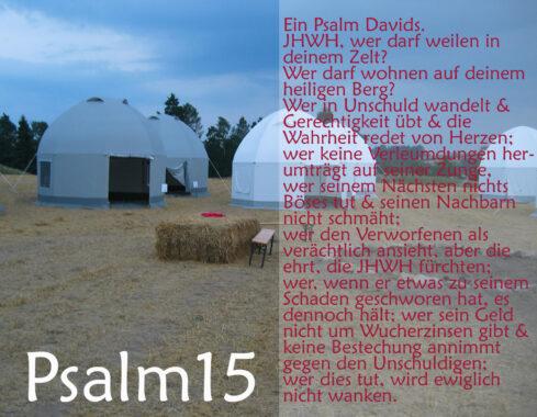 Zelte mit Psalm 15, Bibel, Jesus Christus, Foto: Jörg Danzer, go 4 Jesus
