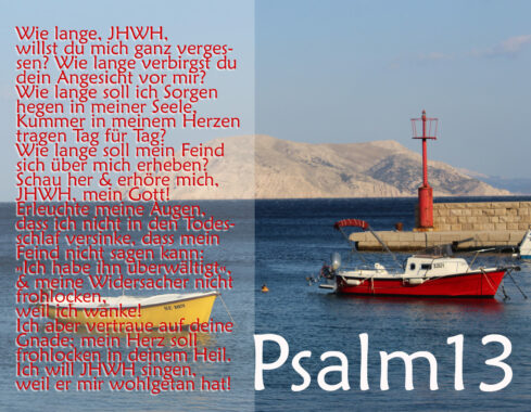 Bibel Psalm 13, Foto: Thomas Hoffmann, go 4 Jesus