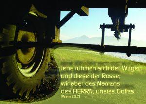 Unterm Wagen - Psalm 20,7 - Christine Danzer- go4jesus, Jesus, Evangelium Bibel