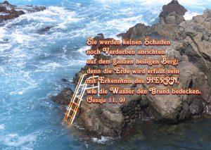 Die Erde wird erfüllt mit Erkenntnis des HERRN -Jesaja 11, 9 - Christine Danzer -go4jesus