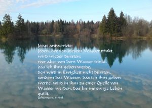 Jesus ist der beste Durststiller - Johannes 4,13 -Christine Danzer - go4jesus