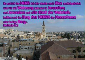 Jerusalem - Sacharja 8,3 - Walter Hagel-go4jesus