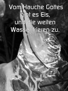 Eisgebilde - Hiob 37, 10 - Vom Hauche Gottes gibt es Eis und die weiten Wasser frieren zu. Christine Danzer - go 4 jesus