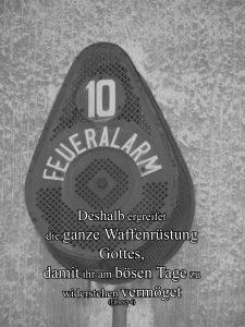 Feueralarm- Waffenrüstung Gottes- Christine Danzer - go 4 jesus