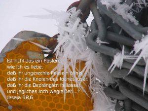 Ketten- Bibelzitat Jesaja 58,6- wie ich es liebe: daß ihr ungerechte Fesseln öffne - Christine Danzer - go 4 jesus