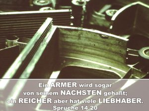 Die zerlegte Rolltreppe - Ein Armer wird sogar von seinem Nächsten gehaßt; ein Reicher aber hat viele Liebhaber -Christine Danzer - go4jesus