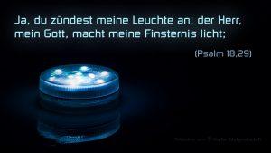 LED- Licht - Psalm 18,29 - - Bibel -Fabian Will - go4jesus