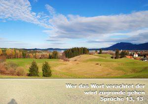 Füssen - Blick auf Festspielhaus- Bibelzitat Sprüche 13,13 - Christine Danzer -go4jesus