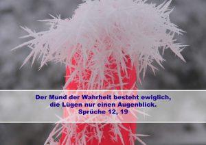 Schnee- Bibelzitat Sprüche 12,19 - Christine Danzer - go 4 jesus