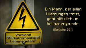 Starkstrom - Sprüche 29, 1- Bibel - - Fabian Will - go4jesus - 2