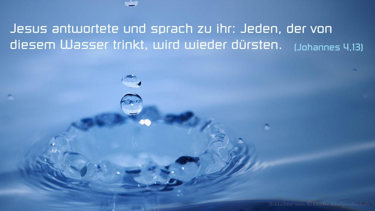 Bibel Wasser