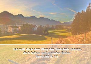 Weg- Füssen- West - BibelzitatSprüche 4,11- Christine Danzer - go 4 jesus