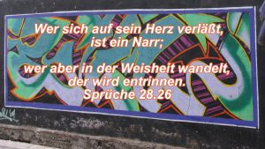 Graffiti Teneriffa - Psalm 28, 26 - Bibel -- Christine Danzer - go 4 jesus - Bild mit Bibelzitat