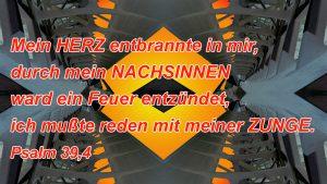 Muster- Psalm 39, 4- Bibel - Christine Danzer - go4jesus - Bild mit Bibelzitat