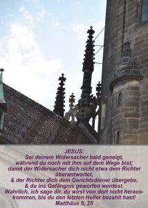 Wittenberg - Schlosskirche Dach - Christine Danzer - go 4 jesus - Matthäus 5, 25 - Bibel