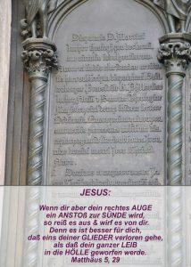 Wittenberg - Schlosskirche - Thesentür- Einleitung Luther - Christine Danzer - go 4 jesus - Matthäus 5,29 -Bibel