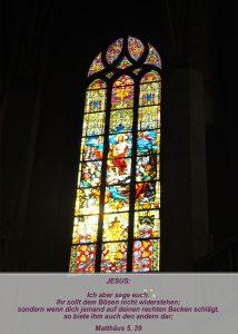 Wittenberg - Schlosskirche - Auferstehung Jesus - Christine Danzer - go 4 jesus - Matthäus 5,39 - Bibel