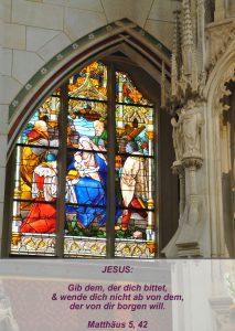 Wittenberg - Schlosskirche - Jesu Geburt - Christine Danzer - go 4 jesus - Matthäus 5,42 -Bibel