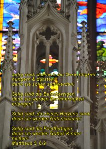 Wittenberg- Altar - Christine Danzer - go 4 jesus - Matthäus 5, 6-9 -Bibel