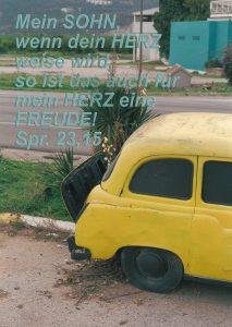 Auto Gelb - Sprüche 23- Christine Danzer- go_4_jesus-bibel
