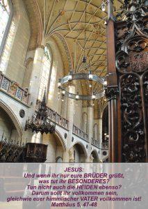 Wittenberg 15 - Schlosskirche - Matthäus 5, 47-48 - Christine Danzer - go 4 jesus