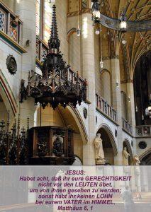 Wittenberg16- Schlosskirche - Kanzel - Matthäus 6, 1- Bibel - Christine Danzer - go 4 jeuss SK_Mt6_1_jesus