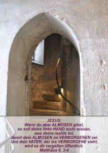 Wittenberg 18 - Schlosskirche -Turm - Matthäus 6, 3-4 - Bibel - Christine Danzer - go 4 jesus
